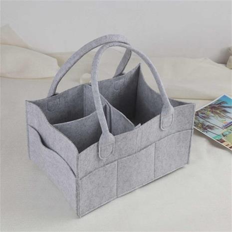 Baby Diaper Wipes Bag, Caddy Infant Nappy Organizer Basket, Nursery Storage Polyester Bin, Durable, Practical Eco-friendly