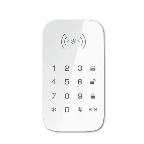 Langaton näppäimistö tukee RFID -kortin kanssa yhteensopivaa hälytysjärjestelmää