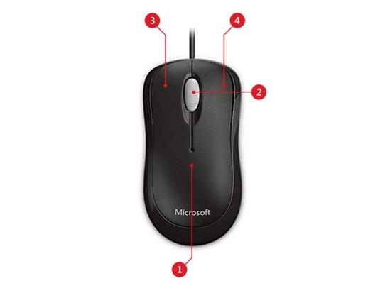 Microsoft Basic Optical Mouse for Business (4YH-000xx), langallinen hiiri