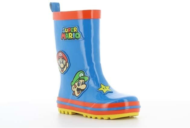 Nintendo Super Mario Kumisaappaat, Cobalt Blue/Red, 30