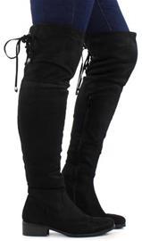 Migant naisten pitkävartiset saappaat A925-119 musta