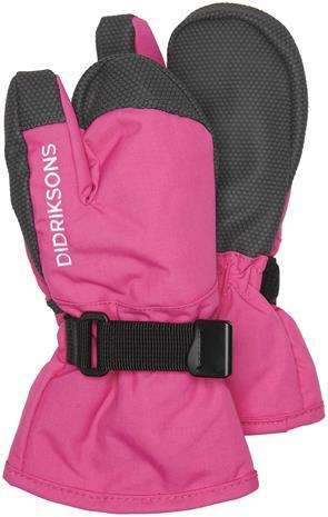 Didriksons Fossa Hanskat, Plastic Pink, 2-4 Vuotta