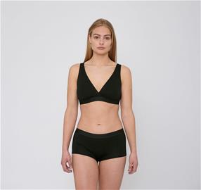 Organic Basics naisten Lite Shorty 2-pack alushousut - Tenceliä, Black / XS