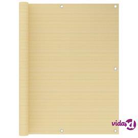 vidaXL Parvekkeen suoja beige 120x400 cm HDPE