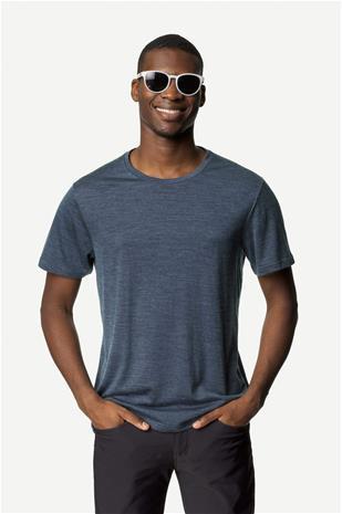Miesten Activist Tee – T-paita merinovillasta ja Tencelistä, Bucket Blue / XL