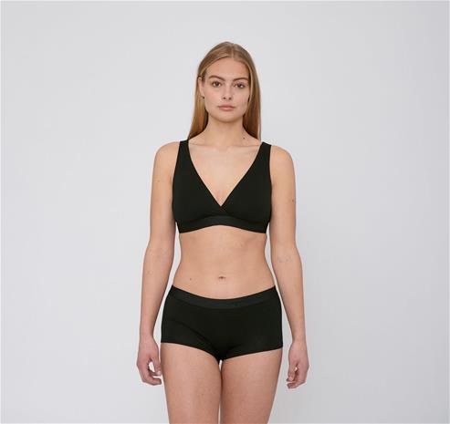 Organic Basics naisten Lite Shorty 2-pack alushousut - Tenceliä, Black / M