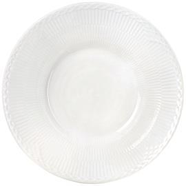 Royal Copenhagen White Fluted Half Lace Deep Plate, 24 cm
