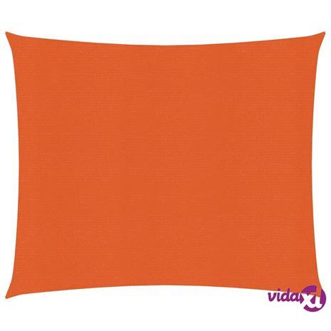 vidaXL Aurinkopurje 160 g/m² oranssi 3x3 m HDPE