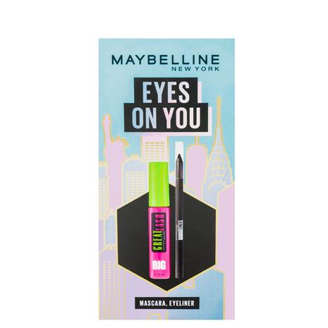 Maybelline Makeup Kit Eyes on You, Black Eyeliner & Mascara Christmas Gift Set
