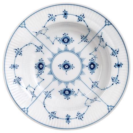 Royal Copenhagen Blue Fluted Plain Deep Plate, 17 cm