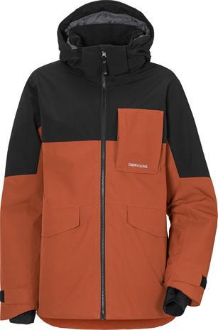 Didriksons Luke 2 Boys Jacket Ruskea/Musta 150
