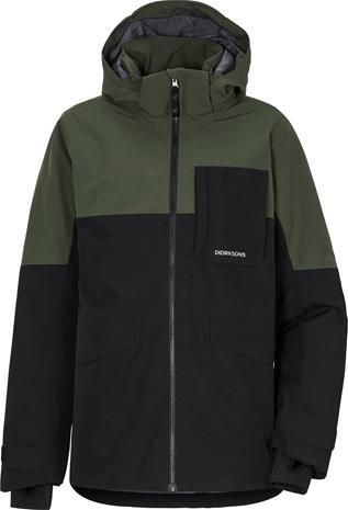 Didriksons Luke 2 Boys Jacket Musta / Vihreä 140