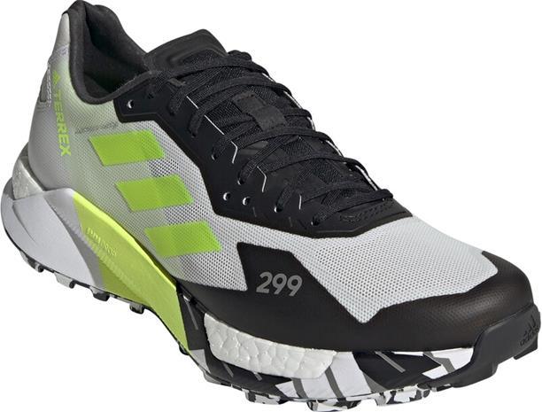 adidas TERREX Agravic Ultra Trail-juoksukengät Miehet, valkoinen/musta