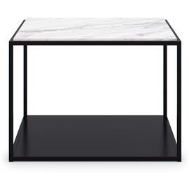 Decotique Decotique-Marvelous Soffbord 63x63cm, Black/White Marble