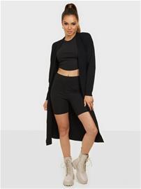 Object Collectors Item Objmalena L/S Knit Long Cardigan No Black