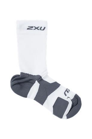 2XU - Urheilusukat Vectr Light Cushion Crew Sock - Valkoinen