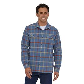 Patagonia Men's Long-sleeved Fjord Flannel Shirt - Organic Cotton, Brisk: Dolomite Blue / L