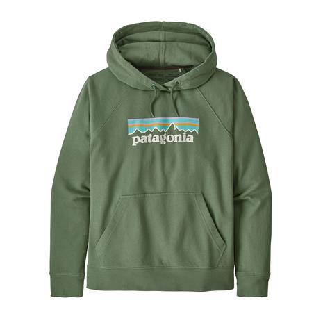Patagonia W's Pastel P-6 Logo Organic Hoody, Sedge Green / M