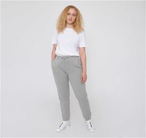 Organic Basics naisten Mid-Weight vapaa-ajan housut - Luomupuuvillaa, Grey Melange / S
