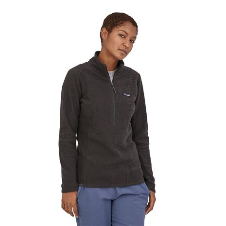 Patagonia Women's R1 Air Zip-Neck - Recycled Polyester, Black / S