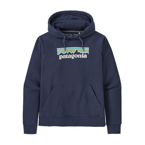 Patagonia W's Pastel P-6 Logo Organic Hoody, New Navy / L