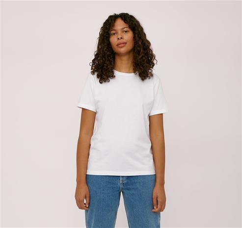 Organic Basics naisten T-paita - 100% luomupuuvillaa, White / M