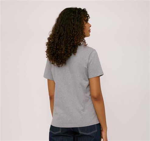Organic Basics naisten T-paita - 100% luomupuuvillaa, Grey Melange / L