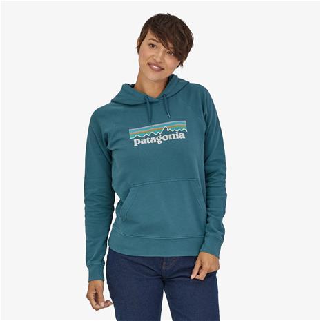 Patagonia W's Pastel P-6 Logo Organic Hoody, Abalone Blue / L
