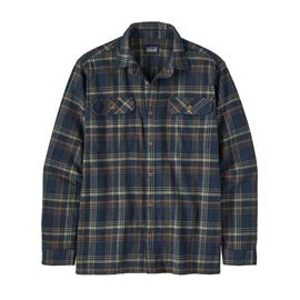 Patagonia Men's Long-sleeved Fjord Flannel Shirt - Organic Cotton, Drifted: New Navy / L