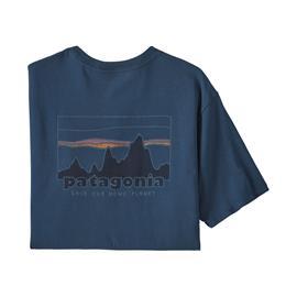 Patagonia Men's '73 Skyline Organic T-Shirt, Tidepool Blue / M