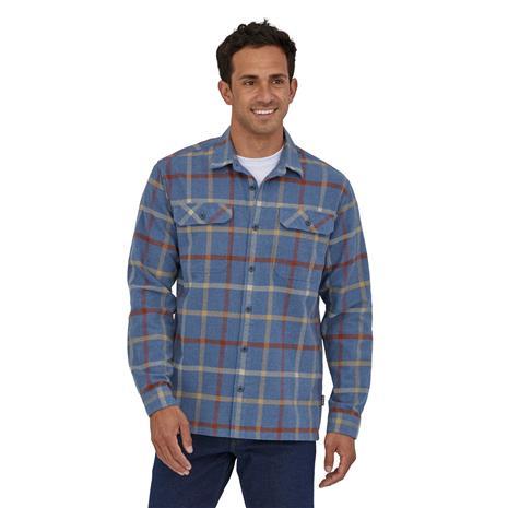 Patagonia Men's Long-sleeved Fjord Flannel Shirt - Organic Cotton, Brisk: Dolomite Blue / XL