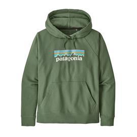 Patagonia W's Pastel P-6 Logo Organic Hoody, Sedge Green / S