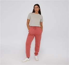 Organic Basics naisten Mid-Weight vapaa-ajan housut - Luomupuuvillaa, Cedar / L