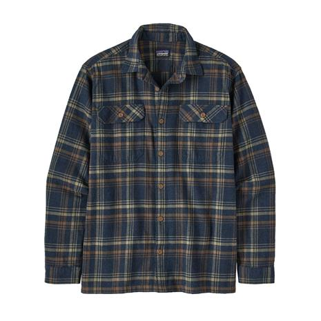 Patagonia Men's Long-sleeved Fjord Flannel Shirt - Organic Cotton, Drifted: New Navy / M