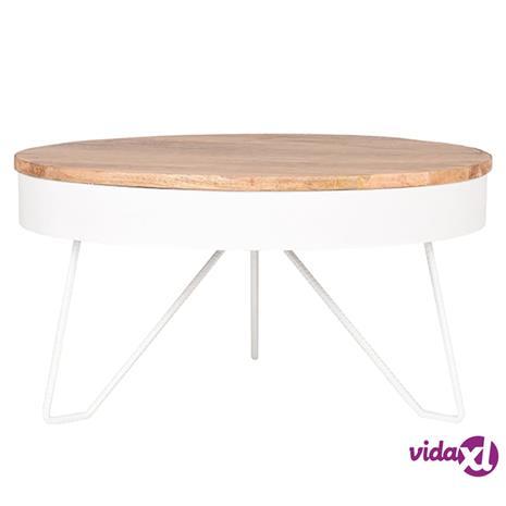 LABEL51 Sohvapöytä Saran 80x80x43 cm puu/valkoinen