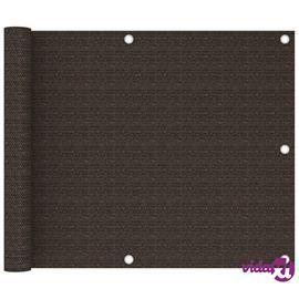 vidaXL Parvekkeen suoja ruskea 75x400 cm HDPE