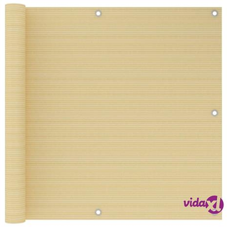 vidaXL Parvekkeen suoja beige 90x300 cm HDPE