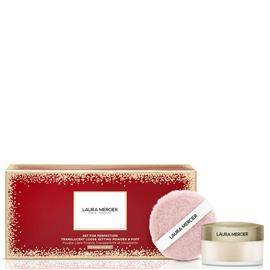 Laura Mercier Set For Perfection Translucent Loose Setting Powder and Puff Set 10g (Various Colours) - Translucent