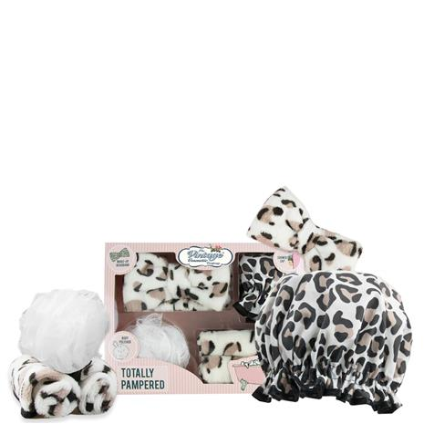 The Vintage Cosmetic Company Totally Pampered Set - Leopard Print