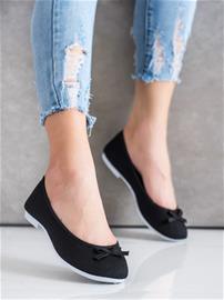Naisten matalat kengät, musta W