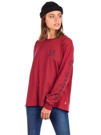Vans Flo Rez Wash Long Sleeve T-Shirt pomegranate Naiset