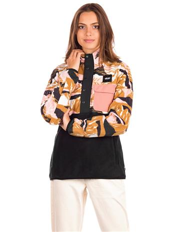 Picture Arcca 1/4 Fleece Jacket pink camountain / black Naiset