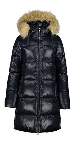 Luhta naisten pitkä talvitakki HIIDENALA, tummansininen 48