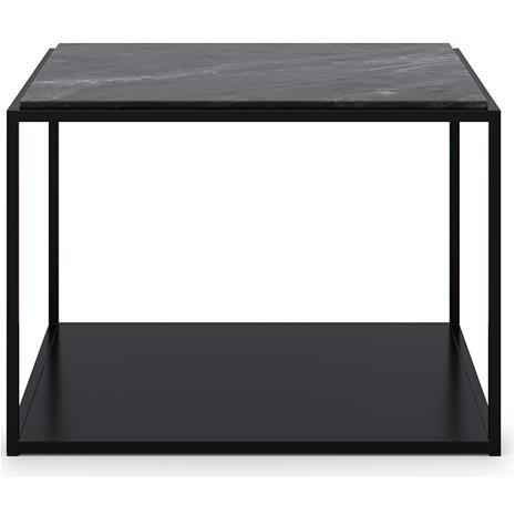 Decotique Marvelous Soffbord 63x63cm, Black/Black Marble