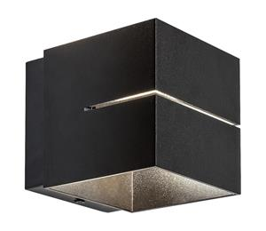 Rabalux 7017 - Seinävalaisin KAUNAS 1xG9/10W/230V musta