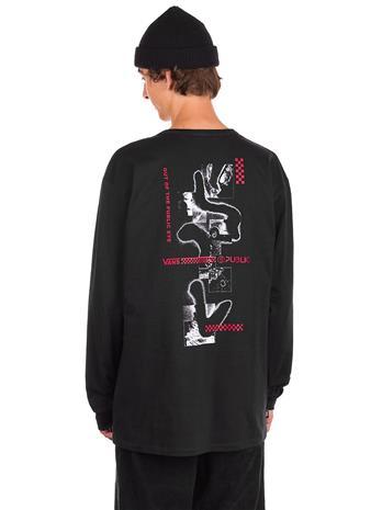 Vans X Public Snow Long Sleeve T-Shirt black Miehet