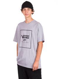 Vans Classic Print Box T-Shirt athletic heather / black Miehet