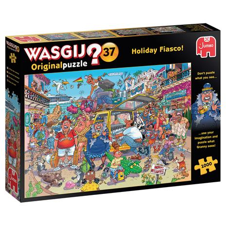 Wasgij Original 37, Holiday Fiasco -mysteeripalapeli, 1000 palaa