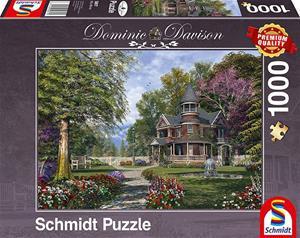Schmidt Dominic Davison: Manor House With Tower 1000p palapeli