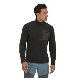 Patagonia Men's R1 Air Zip-Neck - Recycled Polyester, Black / XL